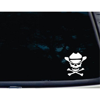 Pirate Skull with Cowboy Hat - 3 3/4