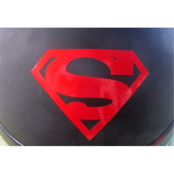 RED Reflective Superman Symbol - 3