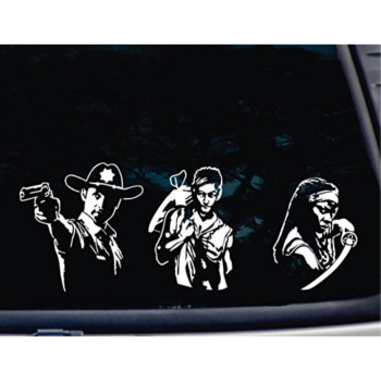 ULTIMATE Walking Dead Set of 3 - Daryl, Rick and Michonne - Various Sizes - die cut vinyl decal for windows, cars, trucks, tool boxes, laptops, MacBook - virtually any hard, smooth surface. NOT PRINTED!