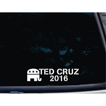 """Ted Cruz 2016 - 8 1/4"""" x 2"""" die cut vinyl decal for windows, cars, trucks, tool boxes, laptops, MacBook - virtually any hard, smooth surface"""