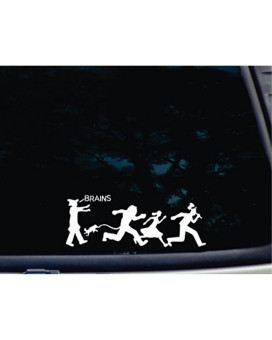 """Zombies on the Yellow Brick Road - 8 3/4"""" x 3 1/4"""" die cut vinyl decal for window, car, truck, tool box, virtually any hard, smooth surface"""