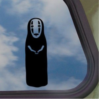 Spirited Away Black Decal No Face Studio Ghibli Car Sticker