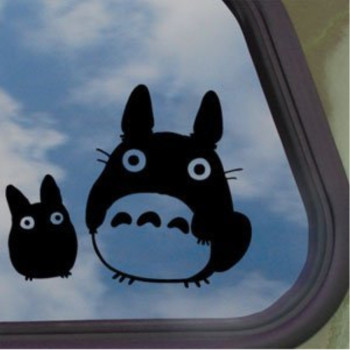 Totoro Black Decal Studio Ghibli Car Truck Window Sticker