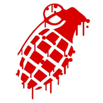 Grenade RED Drip Splatter Snowboard Vinyl Decal Sticker CUSTOM