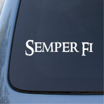 SEMPER FI MARINES - Car, Truck, Notebook, Vinyl Decal Sticker #2155 | Vinyl Color: White