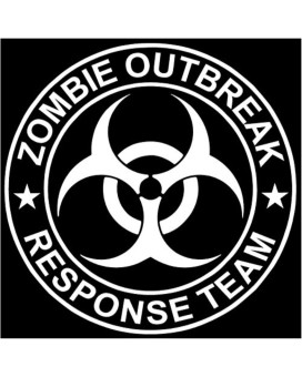 Zombie Outbreak Response Team White Die-cut Vinyl Decal Sticker