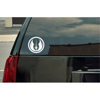 Star Wars Jedi Order Logo Vinyl Decal - White Window Sticker