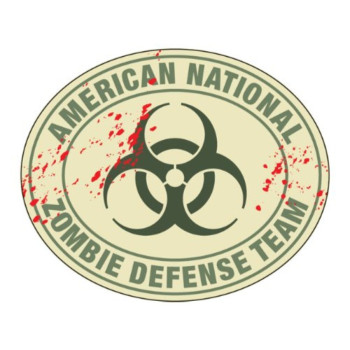 American National Zombie Defense Team (Bumper Sticker)