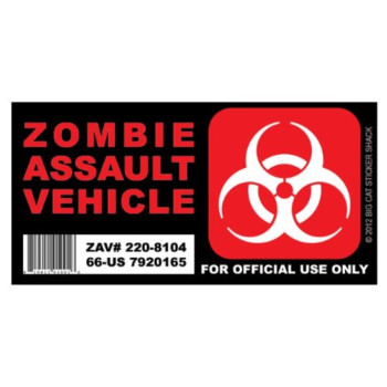 Zombie Assault Vehicle - VERSION 2 (Bumper Sticker)