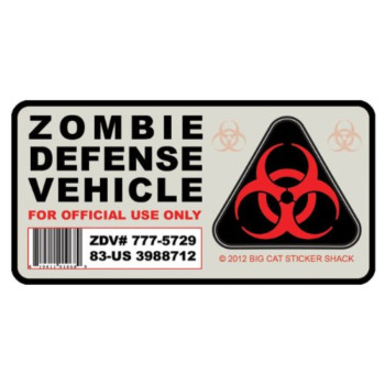 Zombie Defense Vehicle (Bumper Sticker)