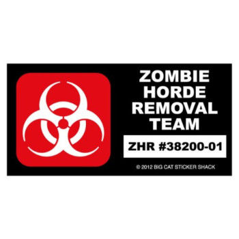 Zombie Horde Removal Team (Bumper Sticker)