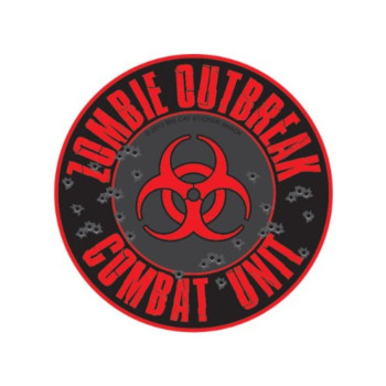 Zombie Outbreak Combat Unit - With Biohazard Symbol (Bumper Sticker)