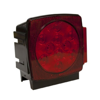 Blazer C7493RTM LED Square Submersible Stop / Tail / Turn Light - Right Hand Side - Red