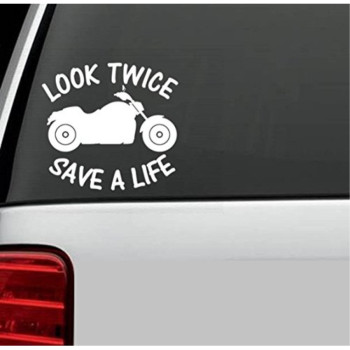 B1020 Look Twice Save A Like Watch For Motorcycles Decal Sticker