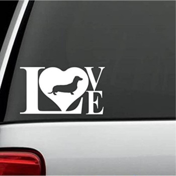 B1077 Dachshund Weiner Dog LOVE Decal Sticker