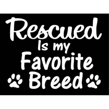 Rescued Pitbull Dog Breed Decal Truck Suv Window Vinyl Sticker
