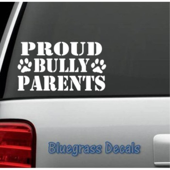 A1009 PROUD BULLY PARENTS PIT BULL TRIBAL PITBULL Vinyl Sticker for Car Truck SUV Window