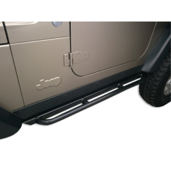Body Armor 4x4 TJ-4121 Black - Steel RockCrawler Side Guards for Jeep TJ (Pair)