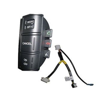 Kia Motors OEM Genuine Auto Cruise Handsfree Switch 1p + Extension Wire 1p Set For 2009 ~ 2013 Kia Borrego : Mohave