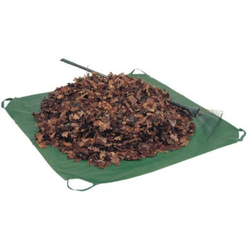 Bosmere G306 84-Inch by 84-Inch Poly Bos-Sheet Yard Waste Tarp With Corner Handles, Green