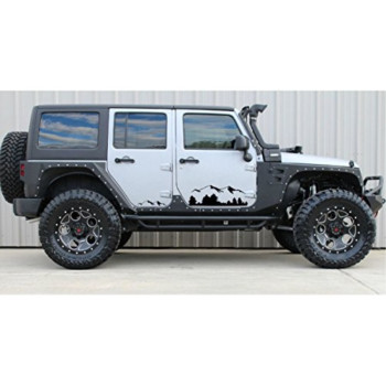 Black mountains Decal sticker Compatible with Jeep Wrangler RUBICON Jk
