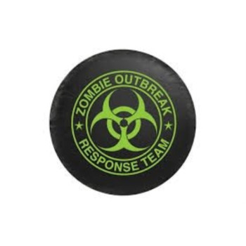 Bully Spare Tire Cover, Zombie Green Logo, Small (CM06G)
