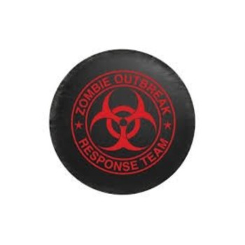 Bully Spare Tire Cover, Zombie Red Logo, Small (CM06R)