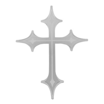 Bully TT-090 Stainless Steel Cross Emblem with Dual Layer 3D Design