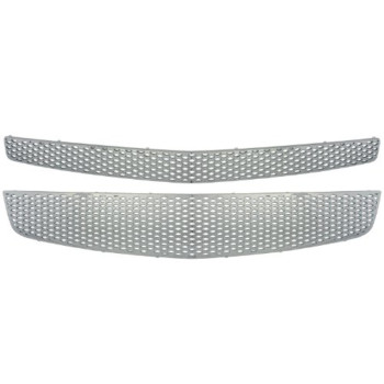 Bully GI-68 Triple Chrome Plated ABS Snap-in Snap-In Imposter Grille Overlay, 2 Piece