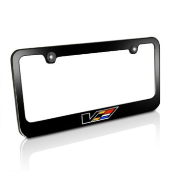 Cadillac V Logo Black Metal License Frame, Official Licensed