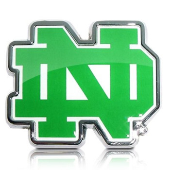 University of Notre Dame Color Chrome Auto Emblem, Official Licensed