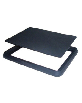 """Car Mate SZ99A 4.75"""" x 6.25"""" Black Non-Slip Sheet with Frame - Pack of 1"""