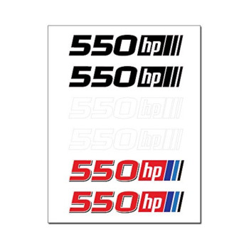 550 Horsepower 6 Vinyl Graphic Car Stickers Decal Sheet (550hp)