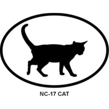 CAT Oval Bumper Sticker