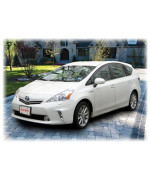 C&C Car Worx WV-12PV-TF Window Visor Rain Guard Deflectors to fit Toyota Prius V 2012 13 14 15