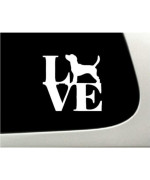 LOVE Beagle Dog Puppy Text Vinyl Car Sticker Symbol Silhouette Keypad Track Pad Decal Laptop Skin Ipad Macbook Window Truck Motorcycle
