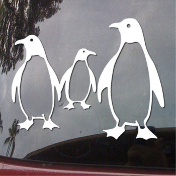 Penguin Family Vinyl Car Sticker Symbol Silhouette Keypad Track Pad Decal Laptop Skin Ipad Macbook Window Truck Motorcycle