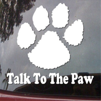 Talk to the Paw Print Vinyl Car Sticker Symbol Silhouette Keypad Track Pad Decal Laptop Skin Ipad Macbook Window Truck Motorcycle