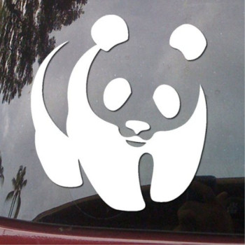 Panda Bear White Symbol Vinyl Car Sticker Symbol Silhouette Keypad Track Pad Decal Laptop Skin Ipad Macbook Window Truck Motorcycle