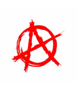 (2x) Anarchy Symbol - Sticker - Decal - Die Cut