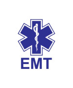 (2x) EMT - Sticker - Decal - Blue - Die Cut