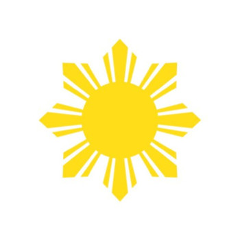 (2x) Philippines Sun - Sticker - Decal - Die Cut