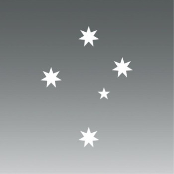 (2x) Australian Southern Cross - Sticker - Decal - Die Cut