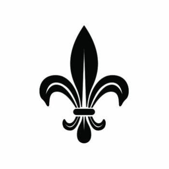 (2x) Fleur De Lis - Black - Sticker #2 - Decal - Die Cut