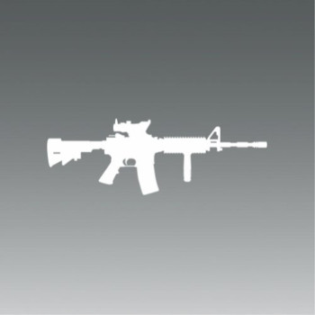 M4 SOPMOD - White - Sticker - Decal - Die Cut