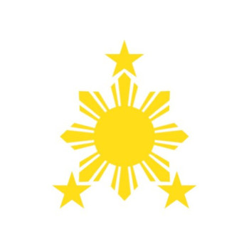 (2x) Philippines Sun - Sticker #2 - Decal - Die Cut