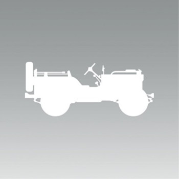 (2x) WWII US Army Willys - Sticker - Decal - Die Cut - Self Adhesive