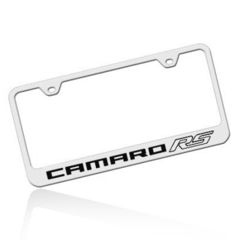 Camaro RS Polished Stainless Steel License Frame