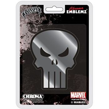 Chroma 41501 Punisher Skull Chrome Injection Molded Emblem