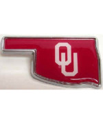 Univ. of Oklahoma (OK shape with color) Car Emblem